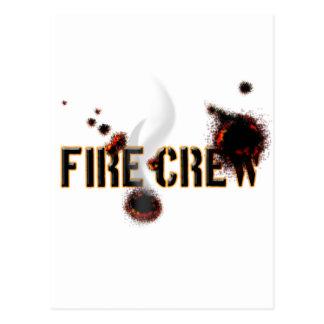 Feuer-Crew Postkarte