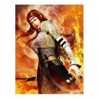 Feuer-Elf Postkarte