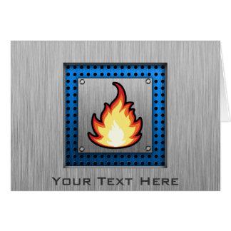 Feuer-Flamme; Metall-Blick Karte