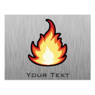 Feuer-Flamme; Metall-Blick Postkarte
