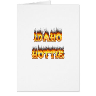 Feuer-Flammen Idahos Hottie Karte