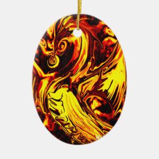 Feuer-Geist-Oval-Verzierung Ovales Keramik Ornament