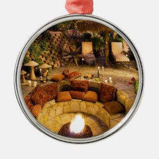 Feuer-Grube Silbernes Ornament