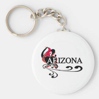 Feuer-Herz Arizona Standard Runder Schlüsselanhänger