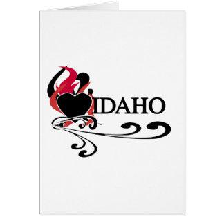 Feuer-Herz Idaho Karte