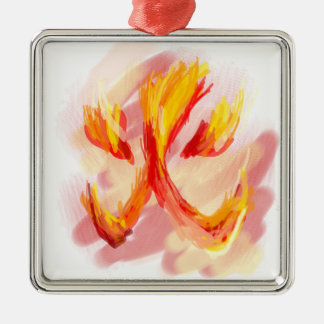 Feuer [japanisch] silbernes ornament