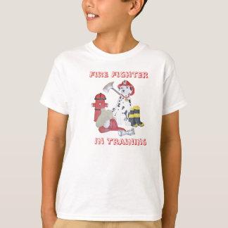 Feuer-Kämpfer im Training scherzt T - Shirt
