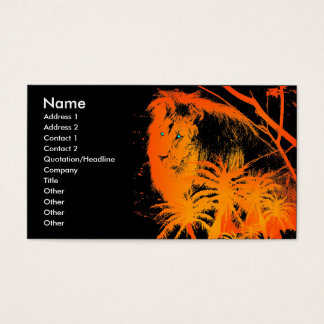 Feuer-Löwe-Visitenkarte Visitenkarte