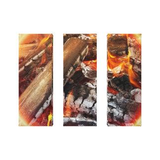 Feuer mit Halo Leinwanddruck