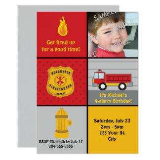 Feuer-Motor-Geburtstags-Party 12,7 X 17,8 Cm Einladungskarte