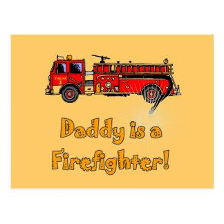 Feuer-Motor-Vati-Feuerwehrmann-T - Shirts und Postkarte