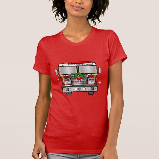 Feuer-Motor verziert für Weihnachten T-Shirt