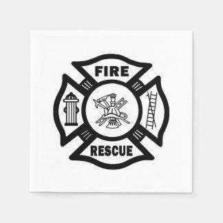 Feuer-Rettung Serviette