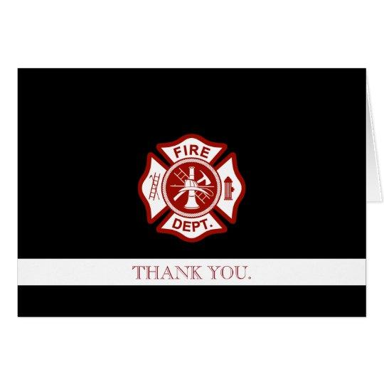 Feuer-Rettungs-berufliches besonders angefertigt Grußkarte
