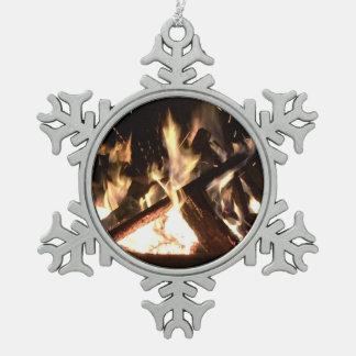 Feuer Schneeflocken Zinn-Ornament