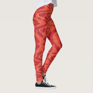 Feuer-Strudel Leggings