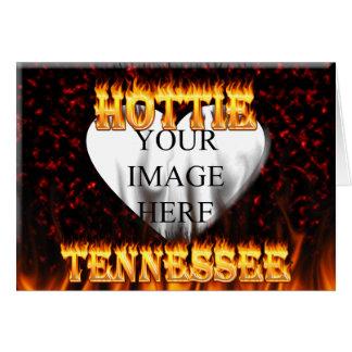 Feuer Tennessees Hottie und rotes Marmorherz Karte