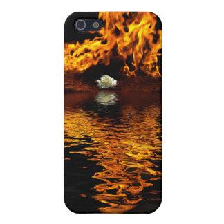 Feuer-u. weiße Rosen-Blumen-Romance Speck-Kasten Hülle Fürs iPhone 5