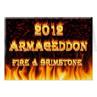 Feuer- und Brimstonefeuer und roter Marmor Karte