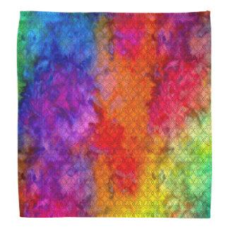 [Feuer und Eis] Boho Friedenszeichen-gefärbte Kopftuch