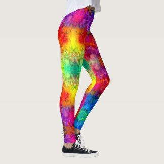 [Feuer und Eis] helle mutige Regenbogen-gefärbte Leggings