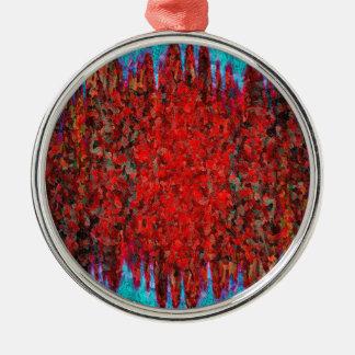 Feuer- und Eisbeschaffenheit Silbernes Ornament