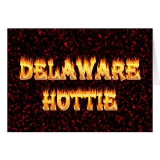 Feuer und Flammen Delawares Hottie Karte