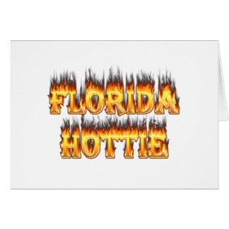 Feuer und Flammen Floridas Hottie Karte