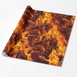 Feuer-und Flammen-Muster Geschenkpapier