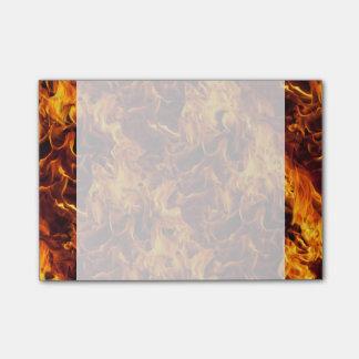 Feuer-und Flammen-Muster Post-it Klebezettel