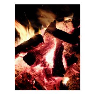 Feuer und Glut Postkarte