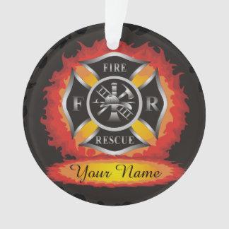 Feuer und Rettungs-Flammen-Feuerwehrmann Ornament