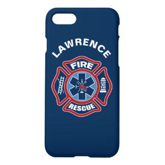 Feuer und Rettungs-Rot und Blau iPhone 7 Hülle