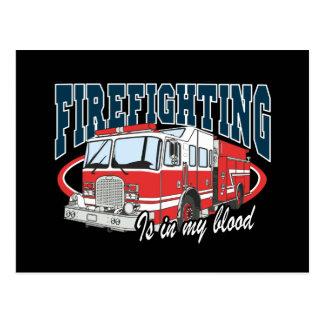 Feuerbekämpfung ist in meinem Blut Postkarte