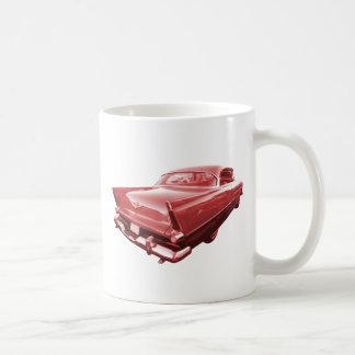 Feuerkugelwut Plymouth-Schwanzflossen 1956 Kaffeetasse
