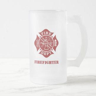 Feuern Sie Abteilung/mattierte GlasTasse des Mattglas Bierglas