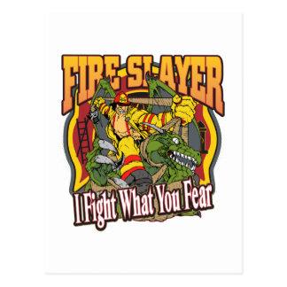 Feuerslayer-Feuerwehrmann Postkarte