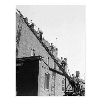 Feuerwehrmann-Ausbildungsstätte, 1920 Postkarte