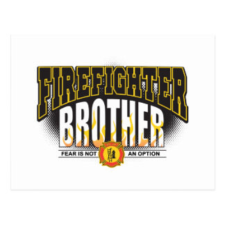 Feuerwehrmann-Bruder Postkarte