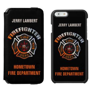 Feuerwehrmann-Chrom-Namen-Schablone Incipio Watson™ iPhone 6 Geldbörsen Hülle