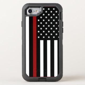 Feuerwehrmann-dünne rote Linie OtterBox iPhone 7 OtterBox Defender iPhone 7 Hülle