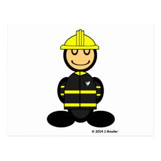 Feuerwehrmann (einfach) postkarten