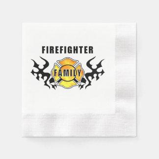Feuerwehrmann-Familie Papierserviette