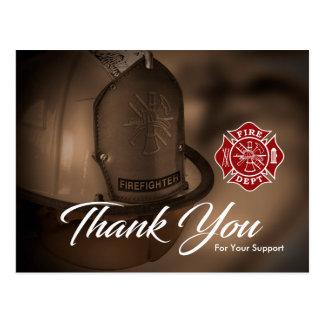 Feuerwehrmann-/Feuer-Abteilung danken Ihnen Postkarte