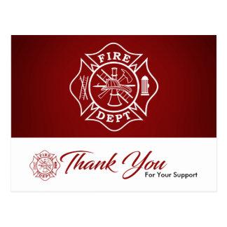 Feuerwehrmann-/Feuer-Abteilung danken Ihnen Postkarten