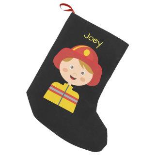 Feuerwehrmann - Feuerwehrmann - Cartoon Kleiner Weihnachtsstrumpf