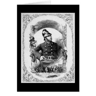 """""""Feuerwehrmann-/Feuerwehrmann-"""" Vintage Karte"""