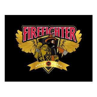Feuerwehrmann-Flügel Postkarte