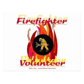 Feuerwehrmann-Freiwilliger Postkarte