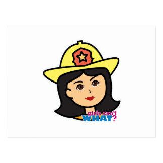 Feuerwehrmann-Hauptmedium Postkarte